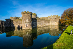 Beaumaris Castle and Moat Reflections (Geordie_Snapper) Tags: angelsey autumn beaumaris beaumariscastle canon5d4 landscape september sunny