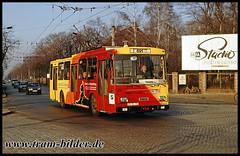 973-1991-12-09-1-Bahnhof Drewitz (steffenhege) Tags: potsdam vip oberleitungsbus obus trolleybus skoda 14tr 973