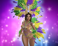 Lemme See Your Pea-cock (Dea.SL) Tags: sl secondlife dancer stripper angels halloween costume naughty peacock
