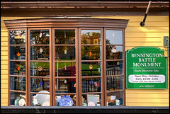 Gift Shop (Timothy Valentine) Tags: sign window reflection 1019 wednesday vacation 2019 camera2 berkshires bennington vermont unitedstatesofamerica