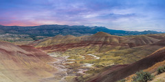 Painted Hills (Mike Ver Sprill - Milky Way Mike) Tags: painted hills landscape nature oregon outdoors travel mike ver sprill michael versprill explore colorful clouds sunset sunrise panorama panoramic pano mountains range