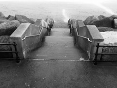 North Bay steps (phil da greek) Tags: blackwhite uk northyorkshire scarborough beach northbay