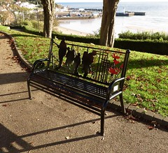 The bench (phil da greek) Tags: uk northyorkshire scarborough neverforget