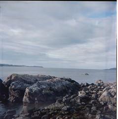 Loch Ewe (lifeinfulvue) Tags: boxcamera ensign fulvueflex kodakektar100 6x6 120film squareformat