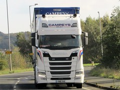 Campeys Of Selby, Scania S500 (YN18XVE) On The A63 Hambleton North Yorkshire (Gary Chatterton 7 million Views) Tags: campeysofselby scaniatrucks yn18xve trucking wagon lorry haulage distribution logistics a63 hambletonnorthyorkshire transport flickr canonpowershotsx430 photography scanias500