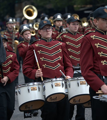 Percussionist (Scott 97006) Tags: uniforms band marching drums highschool percussion