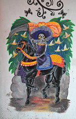 Catrina on Horseback Puebla Mural Day of the Dead (Ilhuicamina) Tags: catrina caballo xochitlan puebla mexican murals diademuertos art walls paintings