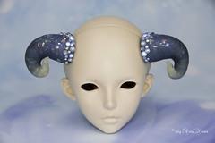 Moon horns SD (AnnaZu) Tags: moon horns feeple sd vesnushkahandmade bjs abjd balljointed polymer clay sculpting pros