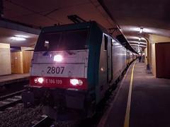 NMBS 2807 met IC Direct @ Brussel Noord (Avinash Chotkan) Tags: ns bombardier traxx br186 nmbs 2807 hle28