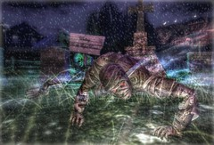 """ Back From The Grave "" (maka_kagesl) Tags: secondlife sl second life game gaming games virtual videogame videogames halloween scary horror grave graveyard mummie mummy"