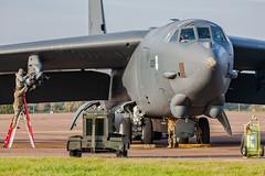 Loading the Paveway - Boeing B-52H - 0025 - RAF Fairford 30OCT2019 (Pete Hemsley) Tags: fairford b52 heavy bomber deployment usaf