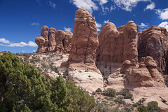 Arches National Park in South Eastern Utah 35 (Largeguy1) Tags: approved landscape clouds bluesky canon 5d mark ii