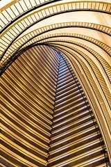 Curves & Lines (Karen_Chappell) Tags: travel abstract architecture canonef24105mmf4lisusm hotel building balconies gold golden yellow usa atlanta georgia city urban geometry geometric lines curves curve line stripes railing
