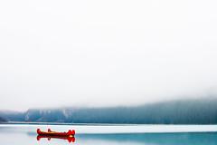 LakeLouise, Canada (Thru My Shutter) Tags: alberta canada canoe blue fog minimalist winter cold glacierwater lake lakelouise calm serene morning outside