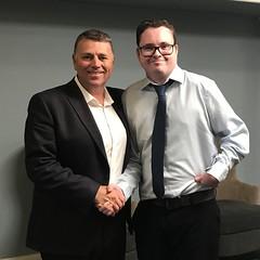 PRINCE EDWARD ISLAND/ÎLE-DU-PRINCE-ÉDOUARD: Award recipient/lauréat Andrew Harbord with/avec Premier/premier ministre Dennis King
