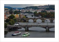 Boating on the river (prendergasttony) Tags: border bridges mosts prague praha vltava river nikon d7200 tony prendergast elements europe landscape