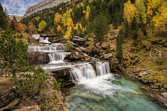 Ordesa Valley, Aragon, Spain (StarCitizen) Tags: spain aragon ordesa valley mountains autumn trees water river waterfall long exposure