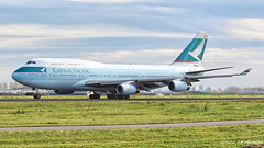 Cathay Pacific B747 (Ramon Kok) Tags: cathaypacific cx cpa bhub schiphol amsterdamairportschiphol boeing 747 boeing747 boeing747400 aviation avgeek avporn amsterdam ams eham netherlands holland thenetherlands aircraft airport airline airplane airways
