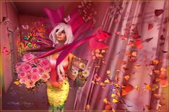 Everythings Coming Up Roses (Bambi Chicque of BamPu Legacies) Tags: ©bampulegacies bambichicque ©tanyaelise'howardphotographygraphics everythingscominguproses maitreya catwa glamaffair donnisdollies zibska ayashihair indulgetemptation foxcity blackbantam boudoir fanvatarmoonstruck serendipityposes kitten kitty cat kitteninabottle flutter butterfly rosepetals flowingcurtains rosebouquet photobooth collar headdress pinkgown outshopcancer theunderdogevent secondlife blogger secondlifedesigner 3ddesigner graphicsartist photographer visualarts finearts virtualphotography fantasyart digitalphotography digitalarts creativedigitalart enchantment extraordinaire medievalfantasy roleplay fantasy secondlifeevents enchanting elegant buildascene