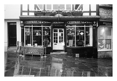 FILM - Central Tea Rooms in the rain (zuffleking) Tags: olympustrip monochrome 400tx