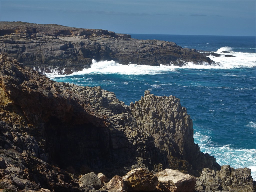 Port Lincoln Eyre Peninsula. The rocky and rugged coastline of Whalers Way.