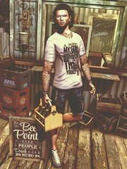 ☠ BEER POINT (Shock Q'Kell) Tags: secondlife sl signature gianni lelutka bento mesh head body guy nuno dura hair slhair volver shirt amias bracelet youneed swallow moncada moncadaparis gklasses volkstone beard facialhair bleich shoes snackers vegas vegastattoo sltattoo tattoo bloggers slbloggers style fashion moda slmoda photo slphoto male man