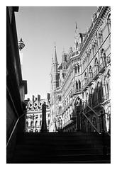 FILM - steps up to St Pancras (zuffleking) Tags: olympustrip monochrome 400tx