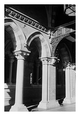 FILM - St Pancras pillars (zuffleking) Tags: olympustrip monochrome 400tx