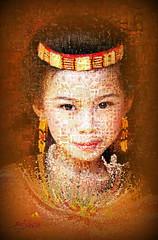 Girl in Mosaic (SØS'Art) Tags: artensoft digiart digitalartwork art kunstnerisk manipulation solveigøsterøschrøder artistic eyes filterforge girl photocollage photomanipulation photomosaic photoshop 100views