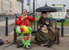 Hot under the collar (daveseargeant) Tags: steampunk whitby north yorkshire seaside festival street event sea coast coastal goth dinosaur costume cosplay gothic 2019