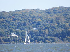 Sailboat On the Hudson River (smaginnis11565) Tags: sailboat water haverstraw newyork rocklandcounty bowlinepointpark