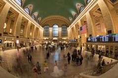 Five Seconds at Grand Central Terminal (Radical Retinoscopy) Tags: grandcentralterminal grandcentral nyc newyorkcity longexposure fisheye wideangle crowd train station newyork