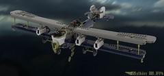 Walküre W.IVb (Cagerrin) Tags: lego system aircraft airplane plane biplane bomber ldd digital designer 3d model