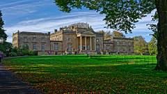 Stourhead (Croydon Clicker) Tags: stourhead nationaltrust wiltshire house mansion palace building architecture lawn grass tree path sky cloud nikon nikkor