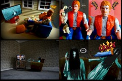 Happy Halloween 2019! - Ringing Chuck Norris (MayorPaprika) Tags: canoneos50d ef28135mmf3556isusm 112 kenner chucknorris karatekommandos smaland furniture swedish doll house thering samara sadako ringu horror japan custom diorama toy story paprihaven action figure set