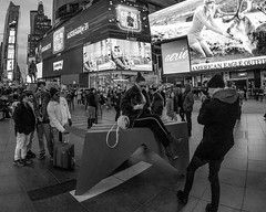 Good Times(Square) for a picture (xrayman.dd) Tags: tourists timessquareatnight advertising