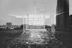 what.the.things.I.can't.remember.tell.the.things.I.can't.forget (jonathancastellino) Tags: toronto doubleexposure film expired ilford xp2 leica m3 landscape memory abandoned derelict decay school demolition window abstract