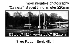 "Sligo Road Enniskillen, Co. Fermanagh, old fashion style black and white photoThis black and white ""camera obscura"" photo is NOT sharp due to camera characteristic. Taken on Photographic Paper 7""x3,5"" (Ilford Multigrade IV - MGIV RC DE LUXE Glossy with a (jbeugephoto) Tags: enniskillen sligo road street house estate vintage biscuit tin obscura photography film pinhole black image beautiful scene rural outdoor manual perspective nostalgic photo camera scenic analogue countryside analogphotography analog traditional photographic pinholecamera outoffocus blurry nolens ilford developer tetenal eukobrom glossy paper iso6"