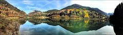Panorama d'automne (arno18☮) Tags: arno18 bellevaux volon france cièl nature panorama iphone7 laghetto lac montagne bleu nuages chevrerie hautesavoie landscape reflets