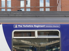 150275 'The Yorkshire Regiment' Leeds (Beer today, red wine tomorrow.....) Tags: nameplate class150 dmu northern