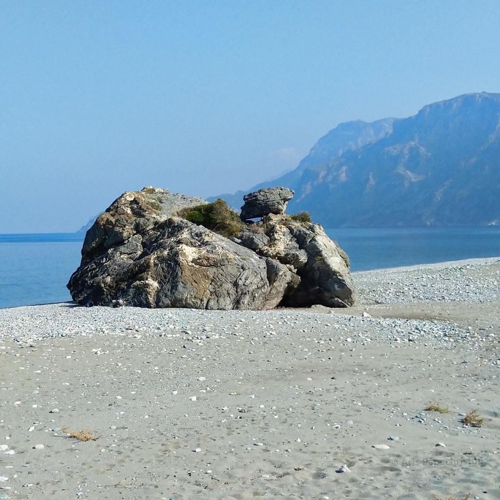 Rock on Chiliadou beach
