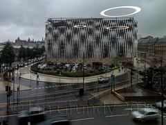 Leeds 5082 (stagedoor) Tags: leeds playhouse westyorkshire quarryhill uk england copyright building rain architecture facade outside exterior yorkshire olympus carpark victoriacentre yorkshirehumberside omdem1mkii