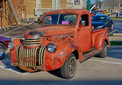 Is it the Great Pumpkin? (kendoman26) Tags: hdr nikhdrefexpro2 october2019morrisilcruisenight morriscruisenight morrisillinois sonyalpha sonyphotographing sonya6000 selp1650 chevypickup