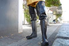 Rubber waders (lulax40) Tags: waders wellies wathosen pvc gummistiefel gummimann fetish rubber rubberboots rainwear guy cotten public pu wathose wadingpants