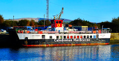 Scotland Greenock the car ferry Loch Striven in the ship repair dock 29 October 2019 by Anne MacKay (Anne MacKay images of interest & wonder) Tags: scotland greenock car ferry loch striven 29 october 2019 picture by anne mackay caledonian macbrayne calmac