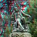 Statue Jardin des Plants Paris 3D anaglyph