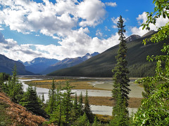 meander - Athabasca River 2017, Alberta (matthias416) Tags: river stream landscape mountains trees clouds yourbestoftoday forest jasper banff icefieldparkway canada kanada alberta
