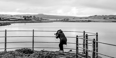 Hury Reservoir . (wayman2011) Tags: colinhart fujifilm50mmf2 fujifilmxe2s lightroom5 wayman2011 bwlandscapes mono rural reservoirs people photographer pennines dales baldersdale countydurham uk