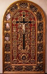 Relics of Saints (Lawrence OP) Tags: crucifixion malta relics allsaints mdina reliquary