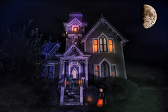Happy Halloween (johnsinclair8888) Tags: halloween composite house affinityphoto nikon d850 hdr gingerbread victorian 20mm slidersunday